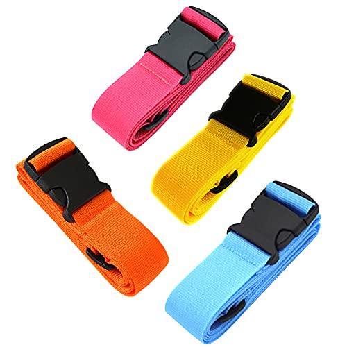 Cintura per valigia, 4 pezzi, cinghie per bagagli, regolabile, per valigia, cinghie da campeggio, cinture da viaggio