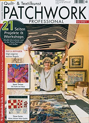 """Patchwork Professional 4/2021 \""""21 Seiten Projekte Et Workshops\"""""""