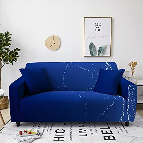 Blue Lightning Stretch Sofa Cover Nonslip Slipcovers Suitable Living Room Couch Cover Protective Cover Furniture Set 90-140cm 06