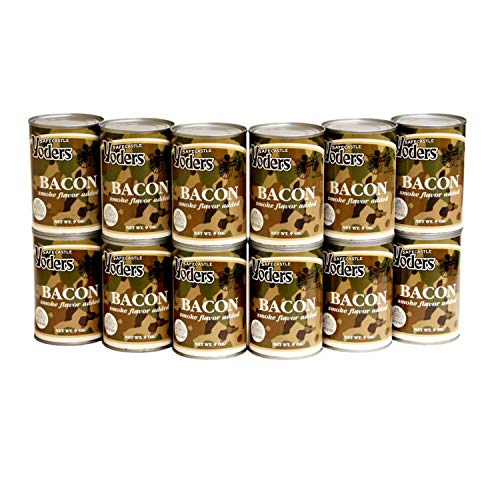 Yoders Fully Cooked Canned Bacon Full Case 12 Cans/9ounce each