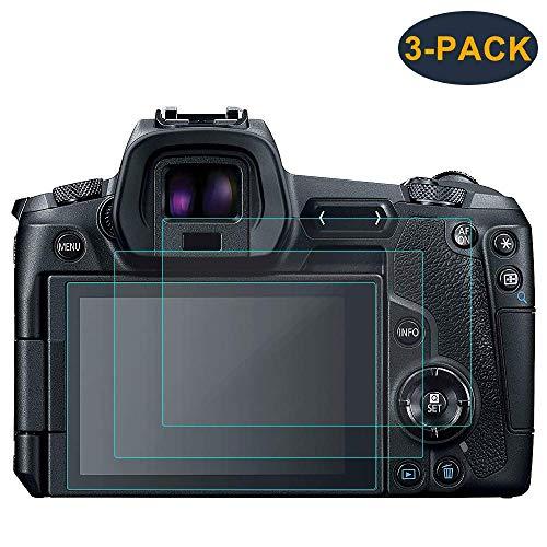 Masstimo Compatible Canon EOS R Schutzfolie Panzerglas, (3 Stück) Displayschutz 9H Ultra-klar Gehärtetes Glas Folie für Canon EOS R Mirrorless Digital Camera