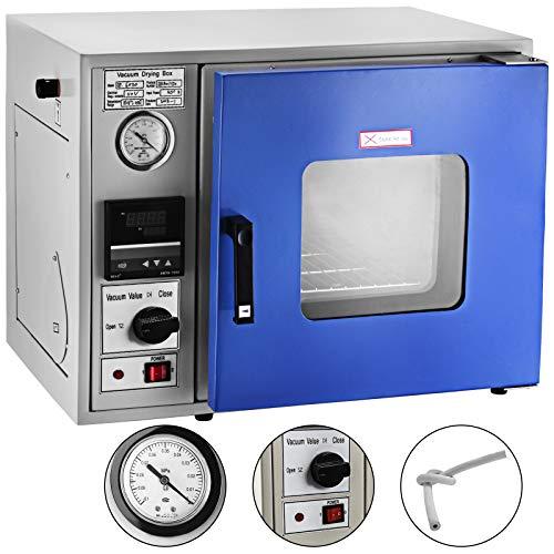 VEVOR Vakuumofen 450 W, Laborofen 10℃ bis 250℃, Vacuum Trockenschrank, Vacuum Drying Oven 1~9999min, Desktop-Vakuum-Trockenofen mit Erzwungener Luftumwälzung