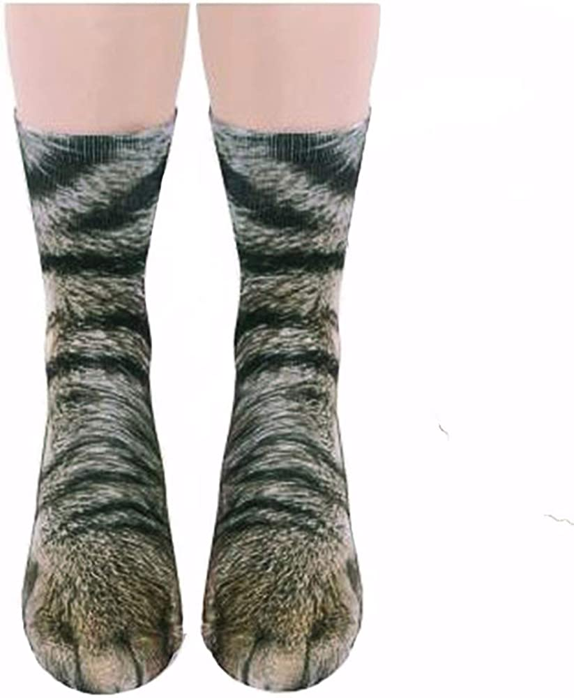 dressfan Calcetines de animales Unisex Ni/ños 3D Imprimir Paw Calcetines Para El Traje De Cosplay Invierno