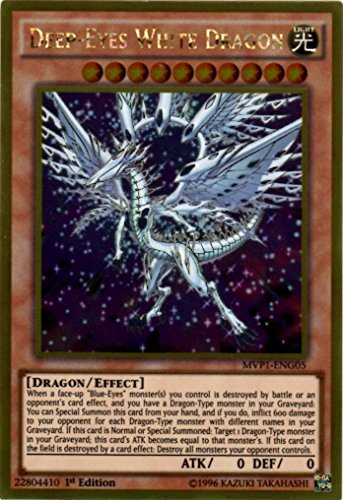 YU-GI-OH! - Deep-Eyes White Dragon (MVP1-ENG05) - The Dark Side of Dimensions Movie Pack Gold Edition - 1st Edition - Gold Rare
