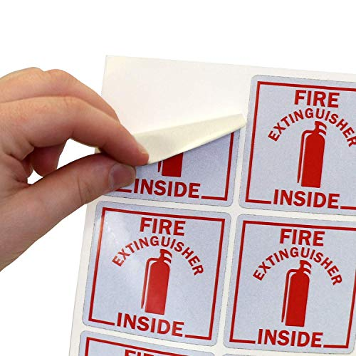 SmartSignFire Extinguisher Inside Label | 2.75