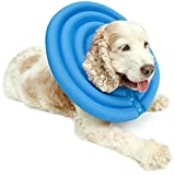 UsefulThingy Dog Recovery Collar - Soft Comfy Cone E-Collar After Surgery, Anti-Bite/Lick - for Cats Too, Quicker Healing - 4 Sizes, 2 Colors (S, Blue)