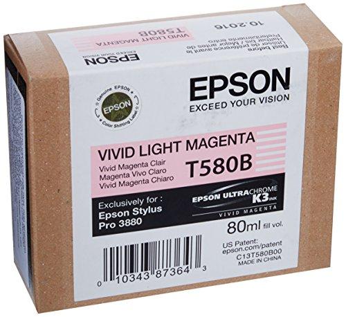 Epson T580B Tintenpatrone Singlepack vivid hell magenta