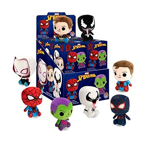 Marvel Mystery Minis Funko Spider-Man Collectible Plush Figures - Complete Display Unit of of 12 Blind Packs
