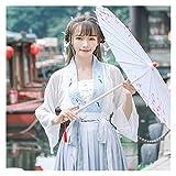 YUNGYE Hanfu - Disfraz de hada fresca para mujer, estilo antiguo, estilo chino (color, tamaño: L)