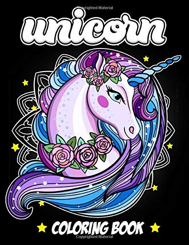UNICORN COLORING BOOK: Adult Coloring Book with Funny Unicorn and Hilarious Scenes for Unicorn Lovers and Mandalas for Relaxation and Stress Relief