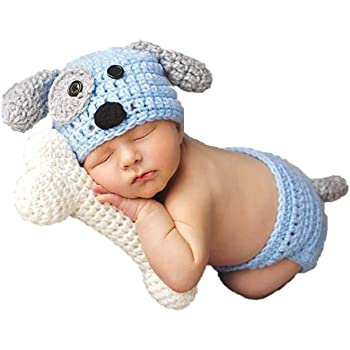 Newborn Baby Girl/Boy Crochet Knit Costume Photography Prop Hats and Outfits