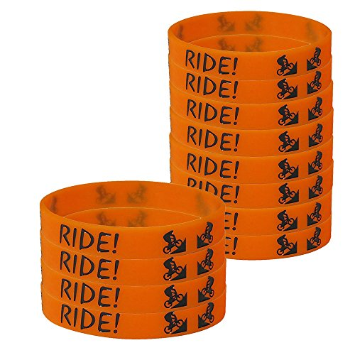 Dirt Bike Kids' Wristbands (12), Extreme Party Supplies, Party Favors and Handouts