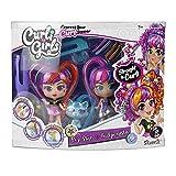 Rocco Giocattoli- Curli Girls Twin Set da Bambole, Multicolore, 82080