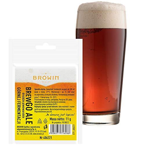 Browin 406221 BrewGO Levure de bière de type Ale, 11 g, pour 20 l d'assaisonnement, alcool ≤ 6 %, poudre