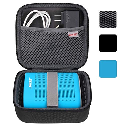 BOVKE for Bose Soundlink Color II/UE ROLL 360 Wireless Speaker Hard EVA Shockproof Carrying Case Storage Travel Case Bag Protective Pouch Box, Black