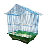 Jaula de pájaros Aves Vida Limpia Jaula de pájaros Cultura económica Jaula de pájaros Adecuado para Loros Gorrión pequeño 28cm × Ancho 21cm × Altura 38cm Jaula para Loros (Color : Blue)
