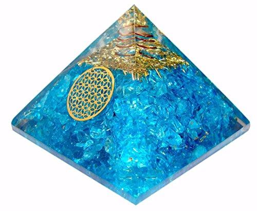 Apatit EMF Schutz Orgonit Pyramid/Reiki Crytsal Pyramiden zur Heilung und Chakra Home Dekoration 65mm mit Tasche