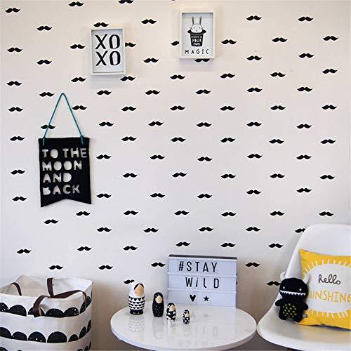 wandaufkleber 3d Wandtattoo Wohnzimmer Lustige diy hipster fliegen schnurrbart für kinderzimmer wohnzimmer hause wohnzimmer kinderzimmer baby zimmer