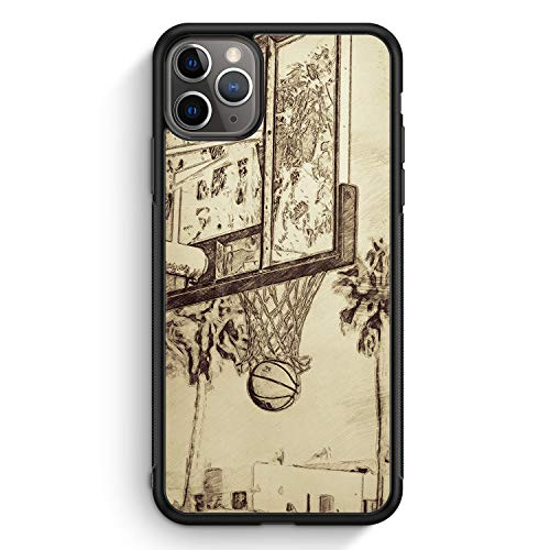 Vintage Basketball - Silikon Hülle für iPhone 11 Pro - Motiv Design Cool - Cover Handyhülle Schutzhülle Hülle Schale