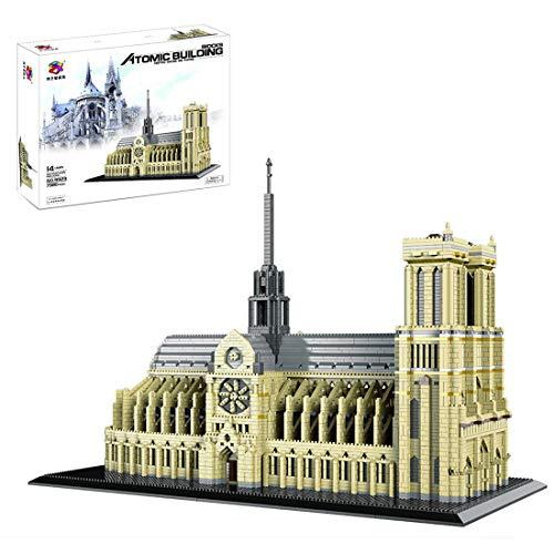 WEIZQ Architecture Jeu de Construction, 7380 pièces modèle darchitecture de renommée Mondiale Notre Dame de Paris Briques, Modular Building Compatible avec Lego