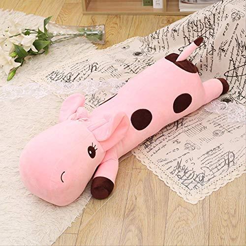 DOUFUZZ SNHPP Muñecas Creativas de Felpa llenas de muñecas de Trapo Decoradas con Animales para Regalos de cumpleaños de los niños 60CM Rosa