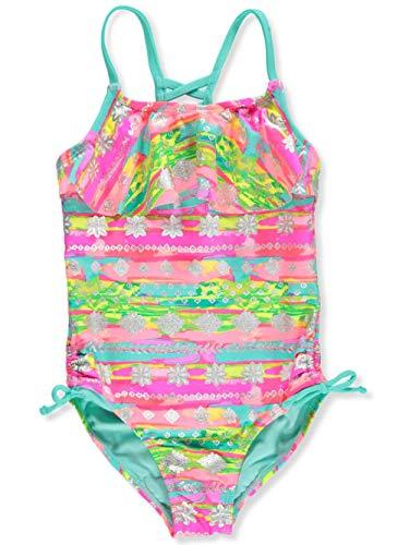 Breaking Waves Girls' 1-Piece Swimsuit - Multi, 16
