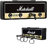 Marshall Porte-clés Jack rack 2.0 jcm800 guitare Keychain Porte-clés d'ampli guitare Crochet de montage mural Homeware (Color : Keyholder Set Black)