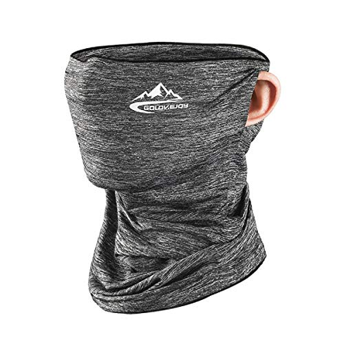 STARFO Cycling Face Covering,Headband Bandana Snood Face Protective Dust Wind Balaclava Headwear for Men Women(Grey)