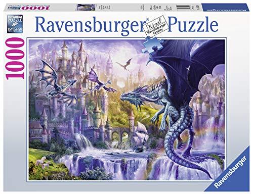 Ravensburger Puzzle 15252 - Drachenschloss - 1000 Teile Puzzle für Erwachsene und Kinder ab 14 Jahren, Fantasy Puzzle mit Drachen