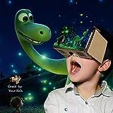 Bakaji 3D-Brille aus Pappe, VR Googles für Android und Apple, Display: 10,16 - 15,24 cm. -