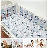 Bebé almohadillas verticales de seguridad para forro de cuna niños niñas ropa de cama protector de riel funda de algodón parachoques de cuna acolchado grueso, protección anticolisión para la cabecera