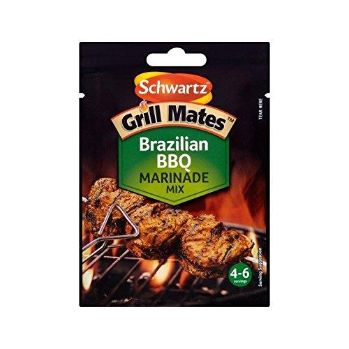 Schwartz Grill Mates Brasilianisches Grill Beutel 30G - Packung mit 6