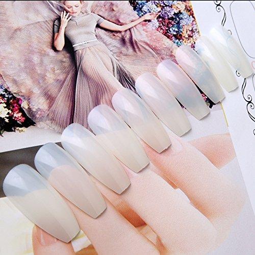 Ballerina Nagelspitzen (100Stück) aus Acryl, transparent für künstliche Nagelkosmetik und Nagelkunst