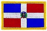 Patch Aufnäher bestickt Flagge DOMINIKANISCHEN REPUBLIK zum Aufbügeln Backpac Insigne