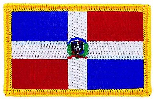 Opnaaier, geborduurd, vlag van de Dominicaanse Sovjet-Republiek om op te strijken, badge voor rugzak