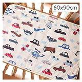WangQianNan Plegable Baby Changing Pad Dibujos Animados Pure Pure Cotton Baby Hoja de bebé Cambiador Pad Pañal Juego Pañal Juego Pad Esenciales de Viaje (Color : 60x90cm Car)