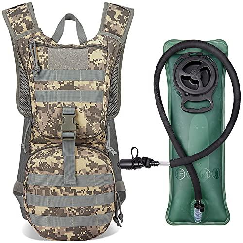 G4Free Militär Trinkrucksack Rucksäck mit 2,5 L Verbesserter Blase Trinkblasen Wanderrucksäcke für Wandern Radfahren Laufen Ausflug und Klettern