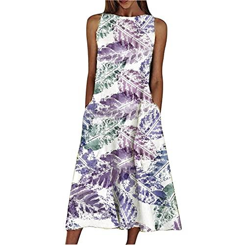 Derby vestido de abrigo vestido de vacaciones para las mujeres verano vestidos de verano para las mujeres púrpura M