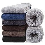 10. 6 Pairs Mens Wool Socks Thermal Cozy Warm Winter Socks Men