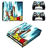 YISHO Anime Dragon Ball Super Film PS4 Pro Skin Sticker Decal Vinyl for Playstation 4 Console and 2 Controllers PS4 Pro Skin Sticker (5)