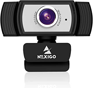 1080P Webcam with Microphone, 2021 NexiGo Streaming Computer Camera, for Zoom Meeting/Skype/FaceTime/Teams/OBS/Xbox/XSplit...