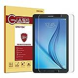 OMOTON Panzerglas Schutzfolie für Samsung Galaxy Tab E 9.6 T560/T561, mit [9H Festigkeit][ Anti-Kratzen][Kristall-klar][Bläschenfrei zu Montage] Samsung Tab E Glasfolie 9.6''