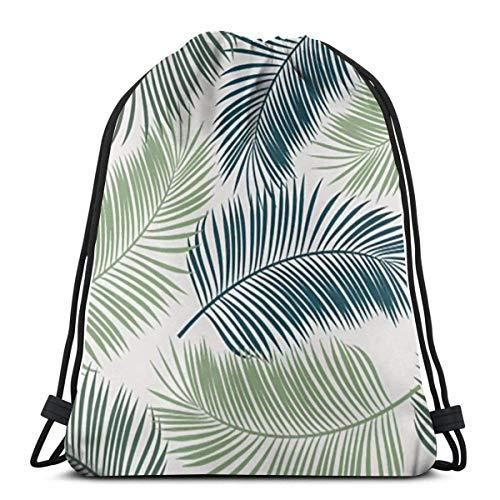 LREFON Mochila con cordón para gimnasio, mochila de verano tropical, mochila para almacenamiento de viaje, organizador de zapatos, hombro escolar, botella de agua para niños