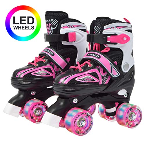 Patines de cuatro ruedas con luces LED de Apollo
