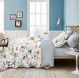Swanson Beddings Autumn Floral 3-Piece Bedding Set: Duvet Cover and Pillow Shams (California King)