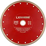 LXDIAMOND Diamant-Trennscheibe 250mm x 25,4mm für 2-3 cm Feinsteinzeug Terrassenplatten Feinsteinzeugfliesen Natursteinfliesen usw. passend für Schneidetische 250 mm