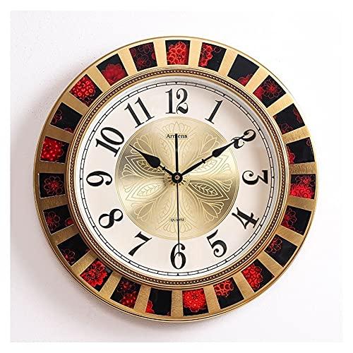 ZRL Wall Clock Cerámica Reloj de Pared Mute Reloj DE Moda CHATCHING TABLO DE Cambio para LA Cala DE Estar Corriente DE LA Oficina DE LA Oficina Decorativo (Color : Black)