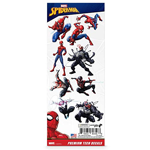 Marvel, 10 Pack, Spider-Man Tech Decals, Waterproof Stickers for Phone, Laptop, Water Bottle, Skateboard, Vinyl Stickers for Boys and Girls