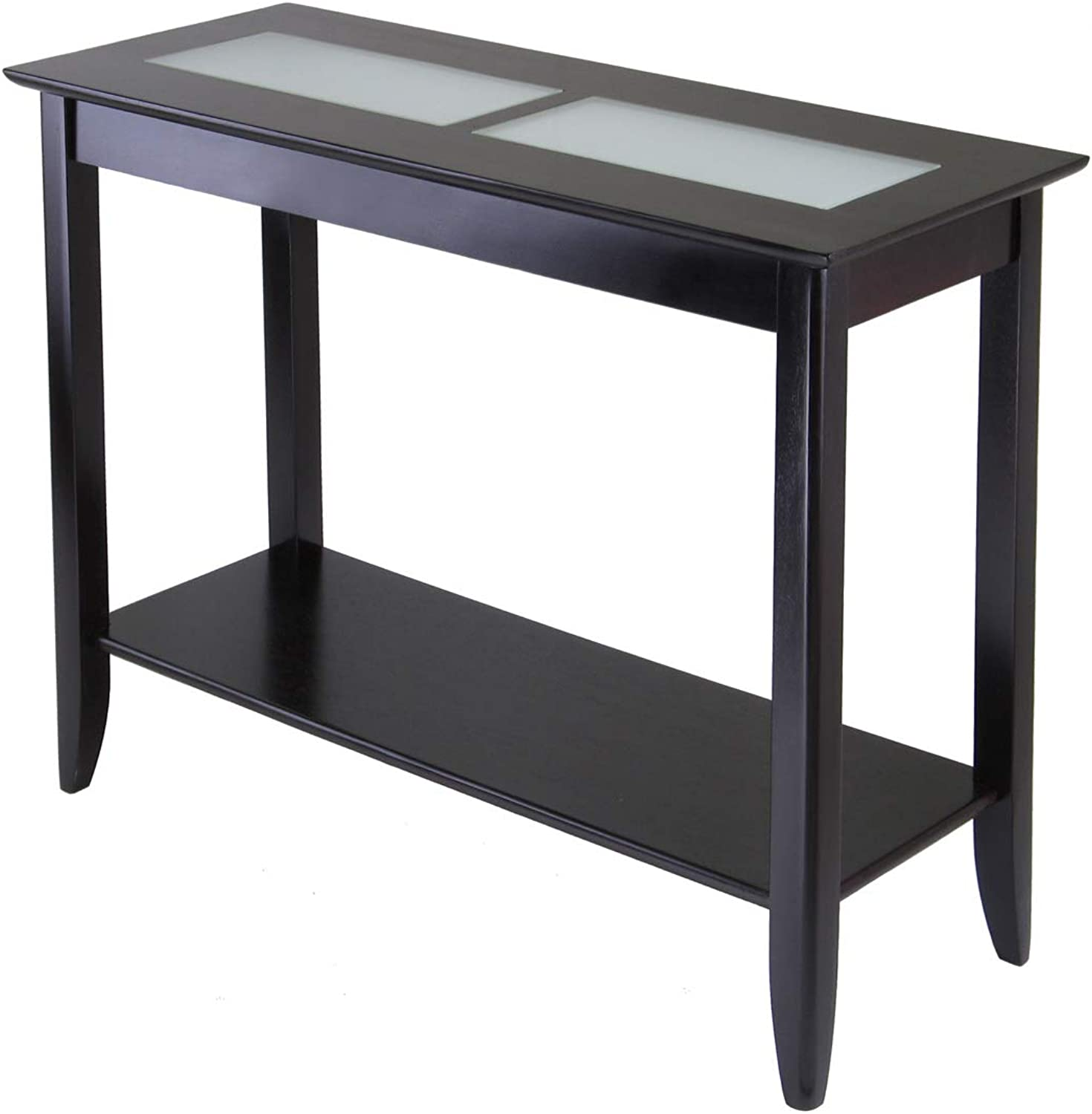 Winsome Wood Syrah Hall Table with Frosted Glass, Shelf