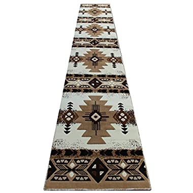 Concord Global Trading South West Native American Runner Area Rug Design C318 Ivory (32 Inch X 15 Feet 6 Inch)